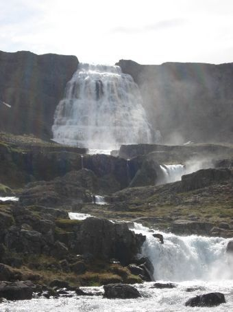 The entire falls were called Dynjandi. The biggest one at the top is called Fjallfoss.