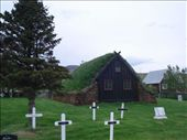 Turf-covered chruch west of Akureyri. I love this turf-covered buildings.: by mredovan, Views[398]
