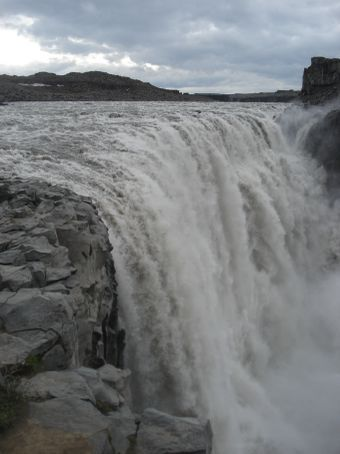 Dettifoss, the largest (in terms of volume of water) waterfall in EUROPE.