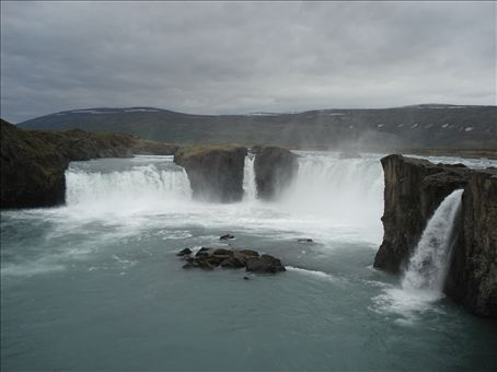 Goðafoss. A waterfall on the way to Myvatn.