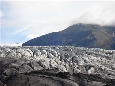 Skaftafellsjökull, one of the many glaciers in Skaftafell National Park. The entire glacier (or all glaciers) are receding, but you can get real close to this guy.