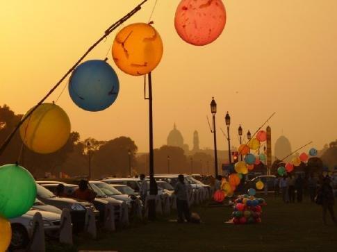Air pollution near India gate
