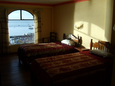 Copacabana, Lake Titicaca, Bolivia. My hotel room for US$6.
