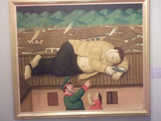 Botero's rendering of the capture of Pablo Escobar