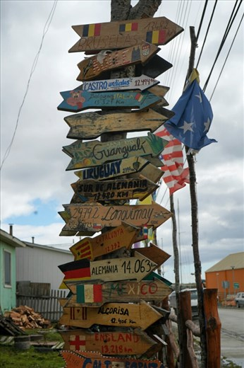 The world's most southern settlement.  Giving directions is easy - go north.