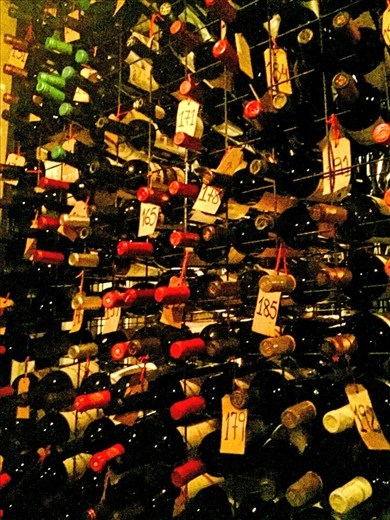 Free wine cellar tour while we waited at Don Julio