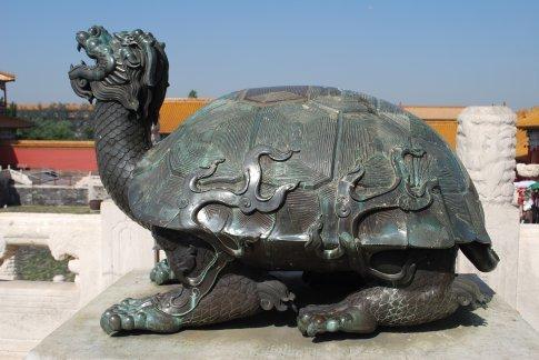 Part turtle, part dragon...