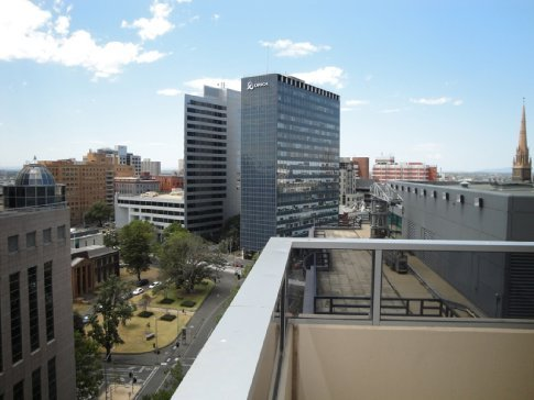 View from the balcony of the apartment