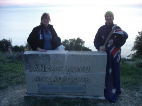 Karl and I at Anzac Cove