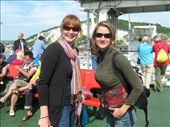 Ferry To Calais - my tent buddy, Tonia and I: by murrihyk, Views[216]