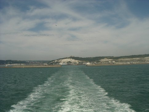 Leaving UK, the White CLiffs of Dover