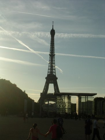 First glimpses of the Eifel Tower