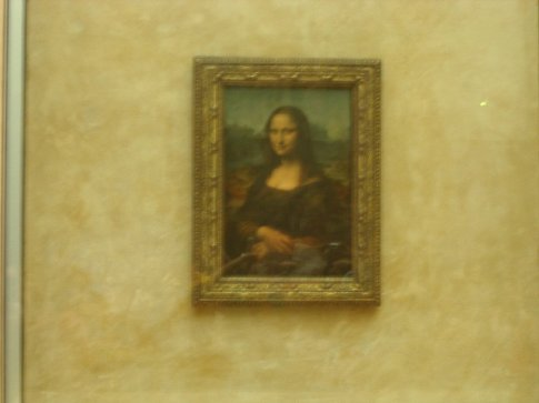 The Mona Lisa through the crowds