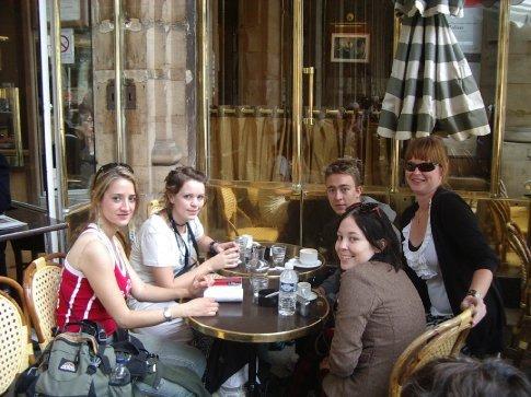 Sitting in a Parisian coffee shop