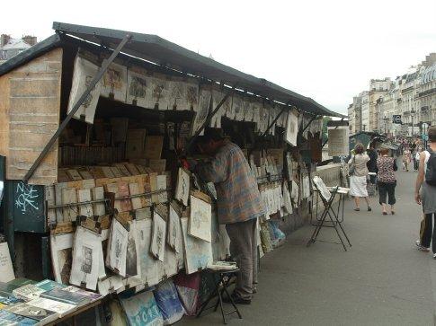 the street venders in Paris