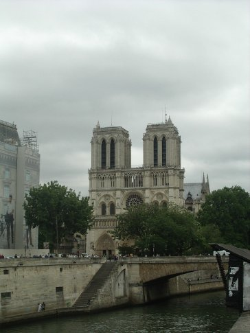 glimpse of Notre Dame Cathedral