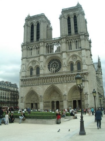 Front entrance to Notre Dame