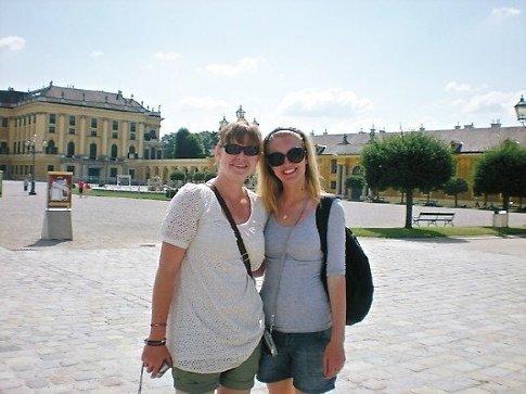 Megan and I at the Summer Palace, Austria