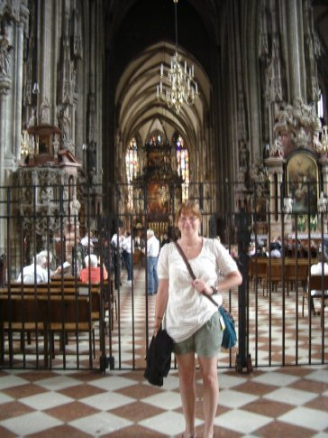Me inside the cathedral