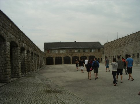 The courtyard - Mauthausen