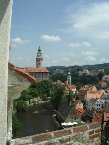 The view from the top - Czesky Krumlov