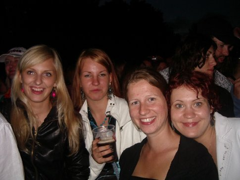 The girls at Positivus Music Festival