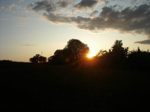 Sunset over the fiels - at about 11pm at night!