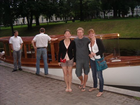 Antra, Arturs and myself after the boat ride