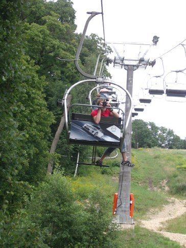 The chair lift back up to the car!