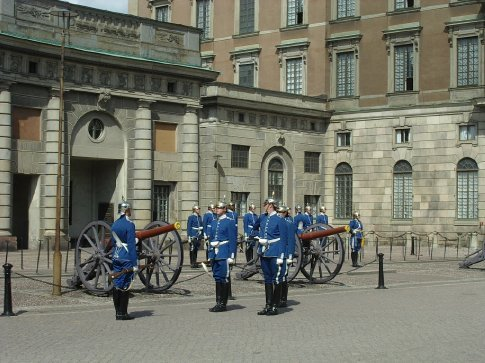 The Changing of the Guards ceremony at the Palace