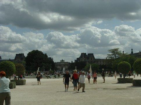 Walking towards the Louvre