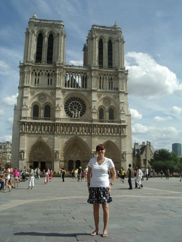 Me outside the Notre Dame