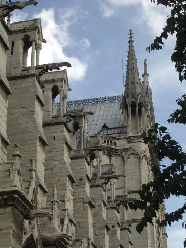Looking up at the gargoyles
