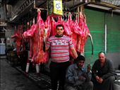 I'm walking through the same Street market in Suez city. People look at me (clearly not a muslim girl) and then at my photo camera. Tis guy asks if I'm a photographer. I'm slow to answer cause it's been only four months since the egyptian revolution and I could be mistaken by some enemy journalist or something not pleaseant. I just smiled shyly and then he gets near to the cows and says