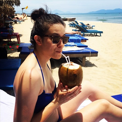 Beach day! It was HOT but the water and the ice cold coconut was amazing.