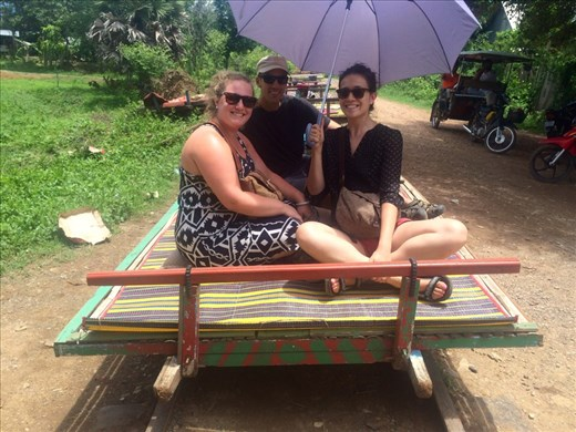 The famous bamboo train in Battambang