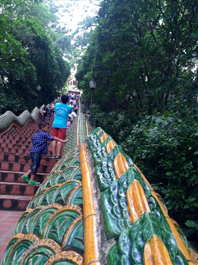 Doi Suthep is the temple on the mountain just outside the city walls of Chiang Mai