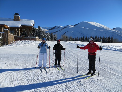 Altitude Training ~ Cross Country Skiing at Sun Valley Nordic Center