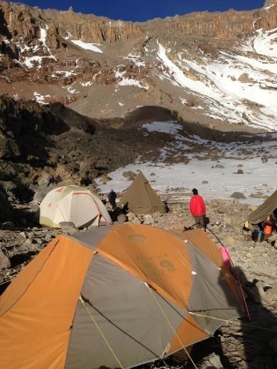 Arrow Glacier Camp (15,980 ft)