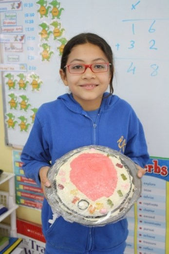Incredible Edible Cell Project - Lina. Unfortunately, I missed tasting this cake too. Very creative cell!