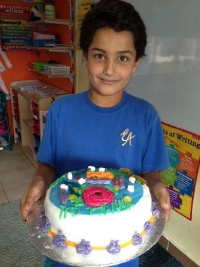 The Incredible Edible Cell Project - Mahmoud... this cake was DELICIOUS!!!
