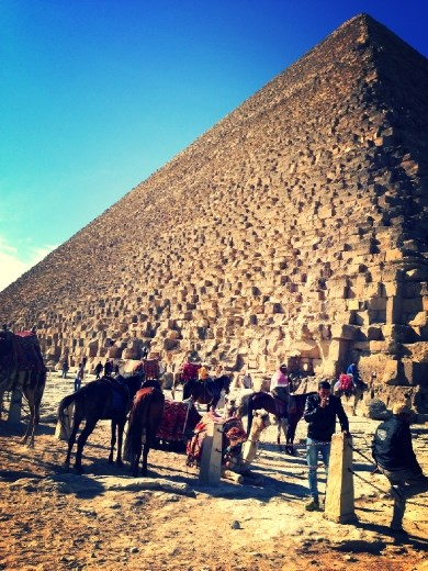 Pyramid of Khufu (a.k.a. The Great Pyramid of Giza) built for King Cheops.