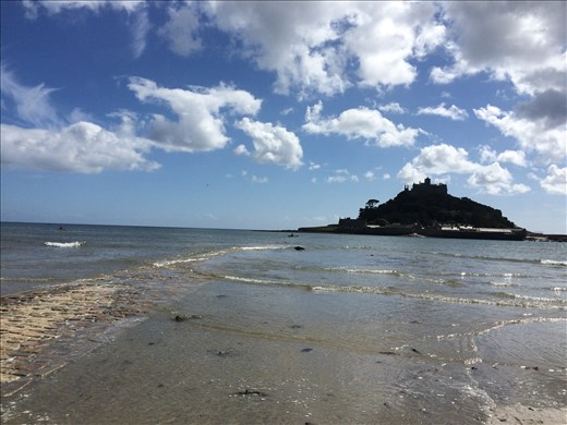 St Michael's Mount seen from the shore