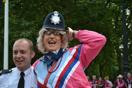 Cross-dressing performances at The Athelete's Parade, Westminster, London.