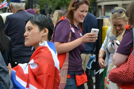 A world coming together: Olympics celebrations, Central London.