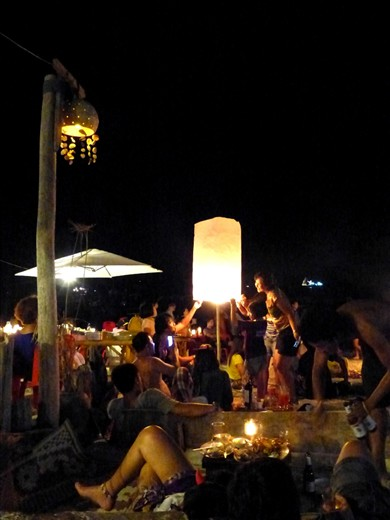 Sending of the old year, wishing in the New. Thai lanterns drift into the sky, full of hopes and dreams for 2013.