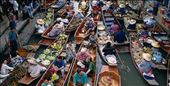 The floating markets in Thailand : by namritha, Views[104]