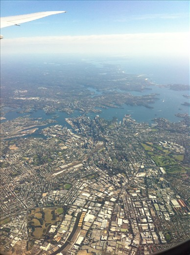 Coming into Sydney