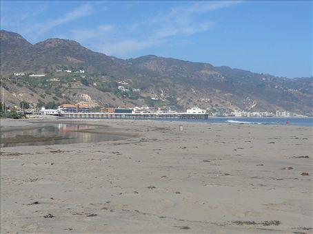 Looking back towards Santa Monica from Malibu Lagoon