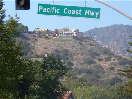 Castle just off the highway at Malibu